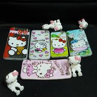 Softcase silicone HP Helo kitty gantungan plus Stand Samsung J2 prime