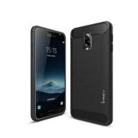 Hard Soft Case Samsung Galaxy J7+ Plus Casing HP IPAKY Carbon Silikon