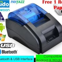 Bluetooth Thermal Printer Kasir POS 58 mm Desktop Version - Black