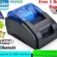 Bluetooth Thermal Printer Kasir POS 58 mm Desktop Version - Black