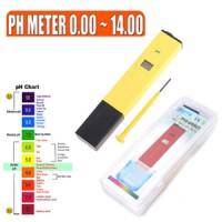 PH Meter Digital Lengkap Kotak + bubuk Kalibrasi + Baterai