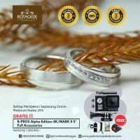 Cincin Kawin Atau Cincin Tunangan Couple Platinum PT010