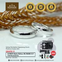Cincin Kawin Atau Cincin Tunangan Couple Platinum PT009