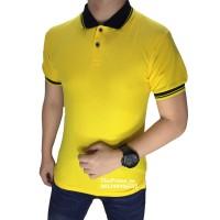 kaos polo shirt , polo shirt pria , kaos polo kombinasi Kuning