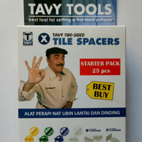 Tavy Tile Spacers 1mm, Perapi Nat Keramik dan Granit