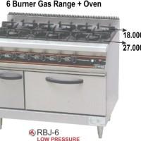 GETRA RBJ-6 Gas Open Burner / Kompor Komersial 6 Burner With 0ven