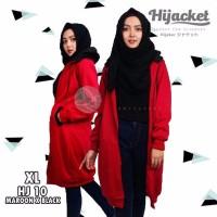 Harga xl original hijacket maroon black hj10 hijabers jacket jaket | Pembandingharga.com