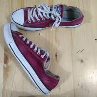 Sepatu Converse CT All Star Low Top Maroon Second Original