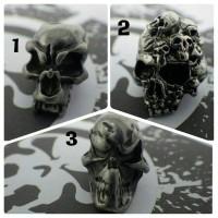 DISKON metal skull beads 4 mm vertical inner
