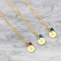 Bauble Bible Ava Monogram Necklace Perhiasan Kalung Inisial Lapis Emas