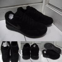 Sepatu Kets Sneakers Nike Pegasus Air Force Suede Full Black Hitam