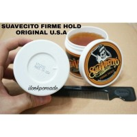 POMADE SUAVECITO firme hold 4oz free sisir