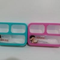 LUNCH BOX BENTO KIDS / YOYEE / SEKAT 3 / LUNCH BOX GRID / TEMPAT MAKAN