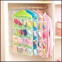 Storage Bag Gantung 16 Kantong Hanger Organizer Underwear Pouch (WN67)