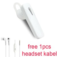Handsfree Bluetooth+Hedset Kabel For Samsung Galaxy On8/On7 Pro- Putih