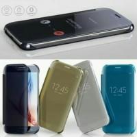 Casing Hp Cover Samsung S5 S6 S6 EDGE S7 S7 EDGE Flip Miror Case