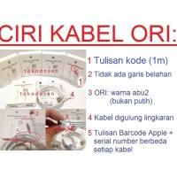 Kabel Charger iPod iPad Pro Air Mini iPhone 5 6 USB Data Original 100%