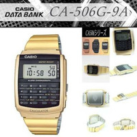 Jam Tangan Data Bank CASIO CA-506 CALCULATOR Original Watch Stainless