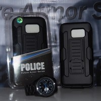 POLICE Future Armor Samsung S7 Edge hp Hybrid Hardcase With Belt clip