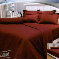 Sprei Vallery 180 Bantal 4 - Dark Red