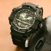 jam tangan pria digitec dualtime original rubber warna lis kuning