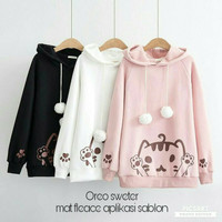 POM2 OREO CAT / OREO SWEATER / JAKET HODIE / HOODIE OBLONG