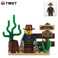 Exclusive set COWBOY koboi MINIFIGURE Minifigures Lego Compatible