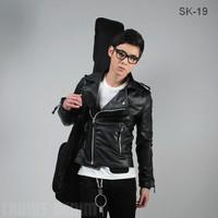 Jaket parka/ jaket kulit/jaket bomber/Korean Style Biker Jacket SK-19