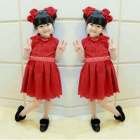 cikita dress brokat anak