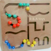 Maze Tombol Bulat - Mainan Kayu