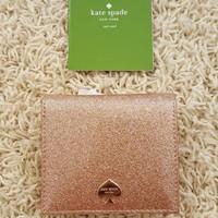 DOMPET Kate Spade Small Bifold Serenade Wallet Glitter Bug RG