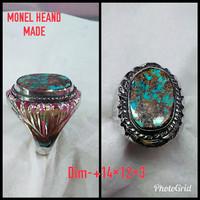 Harga natural batu akik pirus persia cincin mewah monel heand made   HARGALOKA.COM