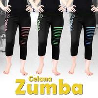 celana zumba sobek 3/4 joging senam yoga fitness masakini