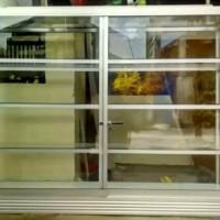Lemari etalase lemari kaca etalase Uk 1 meter