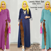 70111 leony maxi set/stelan muslim wanita/stelan wanita/baju muslim