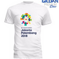 Kaos Gildan Premium Cotton Asian Games New 2018 Logo