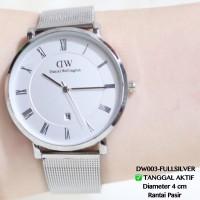 Jam tangan pria daneil wellington DW dapper ring silver tanggal aktif