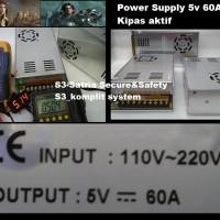 POWER SUPPLY SWITCHING 5V 60A BODY KEKAR KIPAS FAN