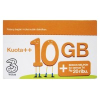 Termurah Three Voucher Kuota   10GB & Bonus Nelpon 20RB