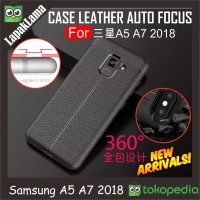 Case Leather Auto Focus Original Samsung Galaxy A8+ A8 Plus A730 2018