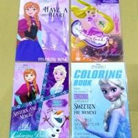 Buku Mewarnai Disney Frozen Adinata . Elsa Anna Olaf. coloring book
