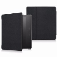 "Amazon Kindle Oasis 7"" eBook Folio Magnetic Leather Cover Case Black"