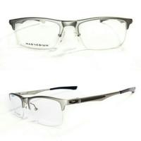 frame kacamata oakley hollow point silver