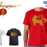 Jual Kaos Baju happy chinese new year Imlek Shio Anjing Murah