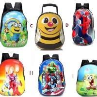 Tas Anak Kartun / Tas Plastik / Tas Sekolah Frozen/Minion/Dora