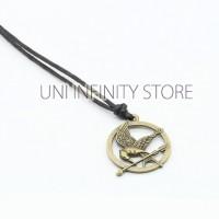 JWNE0150 Kalung Pria Wanita Bronze Mockingjay The Hunger Games Necklac