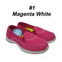 Sepatu olahraga wanita ringan dr Ardiles indria warna abu jocelyn pink