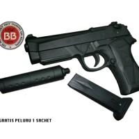 Mainan Pistol Kokang Air Soft Gun MP900 Peredam