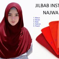 Hijab Jilbab Instan Najwa Khimar Instan - Hijab Instan Kaos Katun TC