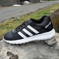 Sepatu Olahraga Kasual Adidas BlackGrey Ukuran Big Size Besar 45 46 47